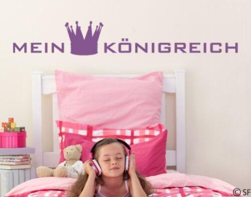 Wandtattoo Mein Königreich Krone Kinderzimmer Wandaufkleber Sticker Flur uss264