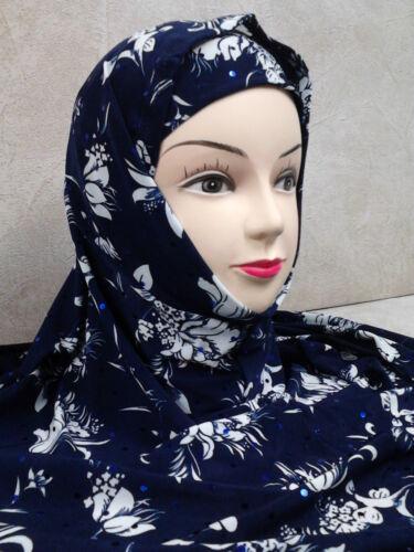 Kopftuch Kopfbedeckung Hijab Tuch islam Muslim Niqab Khimar Abaya  28 blau