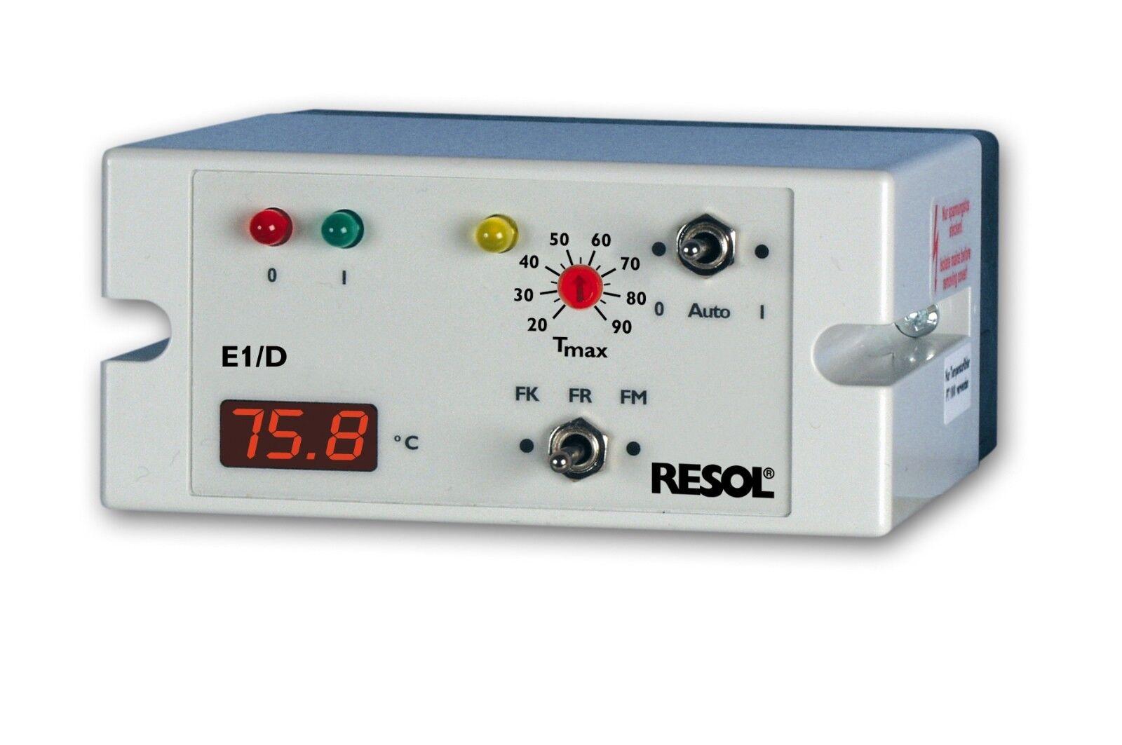 RESOL E1 D Temperaturdiffenrenzregler inkl. 3 Pt1000 Sensoren