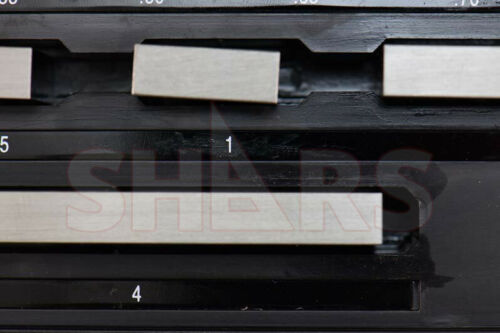 SHARS 81 PCS GRADE AS-2 GAGE GAUGE BLOCK SET NIST CERTIFICATE