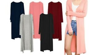 Damen-Lockerer-Cardigan-Strickjacke-Weste-Bolero-Longshirt-Bluse-Pullover-Jacke