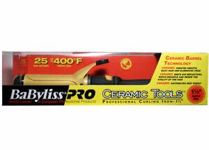 NEW-BAD-BOX-BABYLISS-PRO-1-1-2-034-CERAMIC-TOOLS-400-CURLING-IRON-DUAL-VOLTAGE