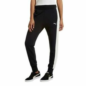 190c3da501e Image is loading NEW-Puma-Womens-French-Terry-Jogger-Black-Marshmallow-