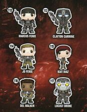 """Funko GEARS OF WAR 6PC 3.75"""" POP FIGURES DOUBLE BOXED! MARCUS JD KAIT DEL & MORE"""