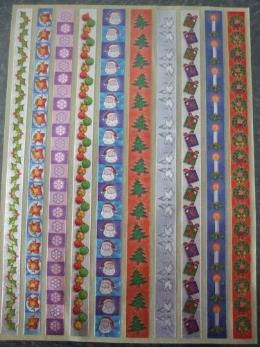 DUFEX stickers-christmas borders1-1 feuille pour fabrication carte et scrapbooking