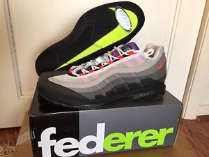 promo code a95c3 75061 Details about Nike Court Air Zoom Vapor X Air Max 95 Greedy Federer RF  AO8759-077 SIZE 11.5