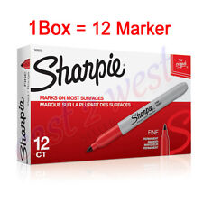 12 Sharpie 30002 Fine Point Permanent Markers Red Color