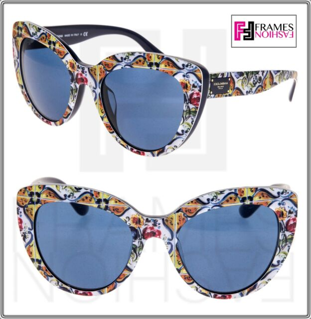 a20f7ae734 Frequently bought together. DOLCE   GABBANA MAJOLICA 4287 Print Blue  Gradient Cat Eye ...