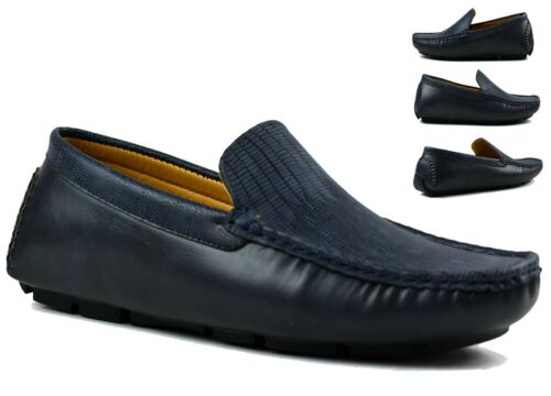 MENS FLAT LOAFERS SLIP ON COMFY WIDE FIT FORMAL SMART LOOK OFFICE WEDDING SHOES