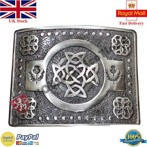 ST Men's Scottish Kilt Belt Buckle Celtic Knot Antique Kilt Belt Buckles Thistle