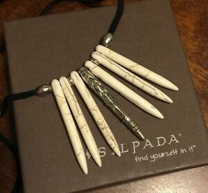 SILPADA-Sterling-Howlite-Suede-NEW-CULTURE-Necklace-NEW-N3256
