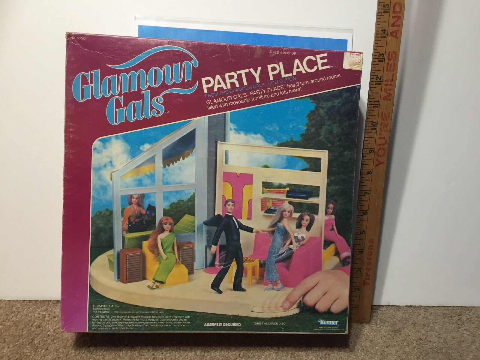 Glamour Gals Party Place Playset 1982 Kenner Vintage scatolaed