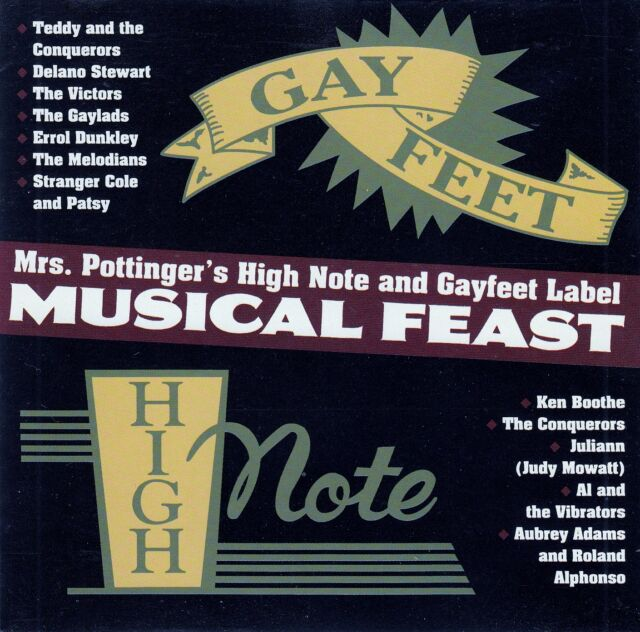 MUSICAL FEAST: MRS. POTTINGER'S HIGH NOTE AND GAYFEET LABEL / CD - TOP-ZUSTAND