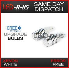 2x W5W 501 T10 5W 5 WATT CREE LED Wedge Car Light Bulbs - Xenon White 6000K