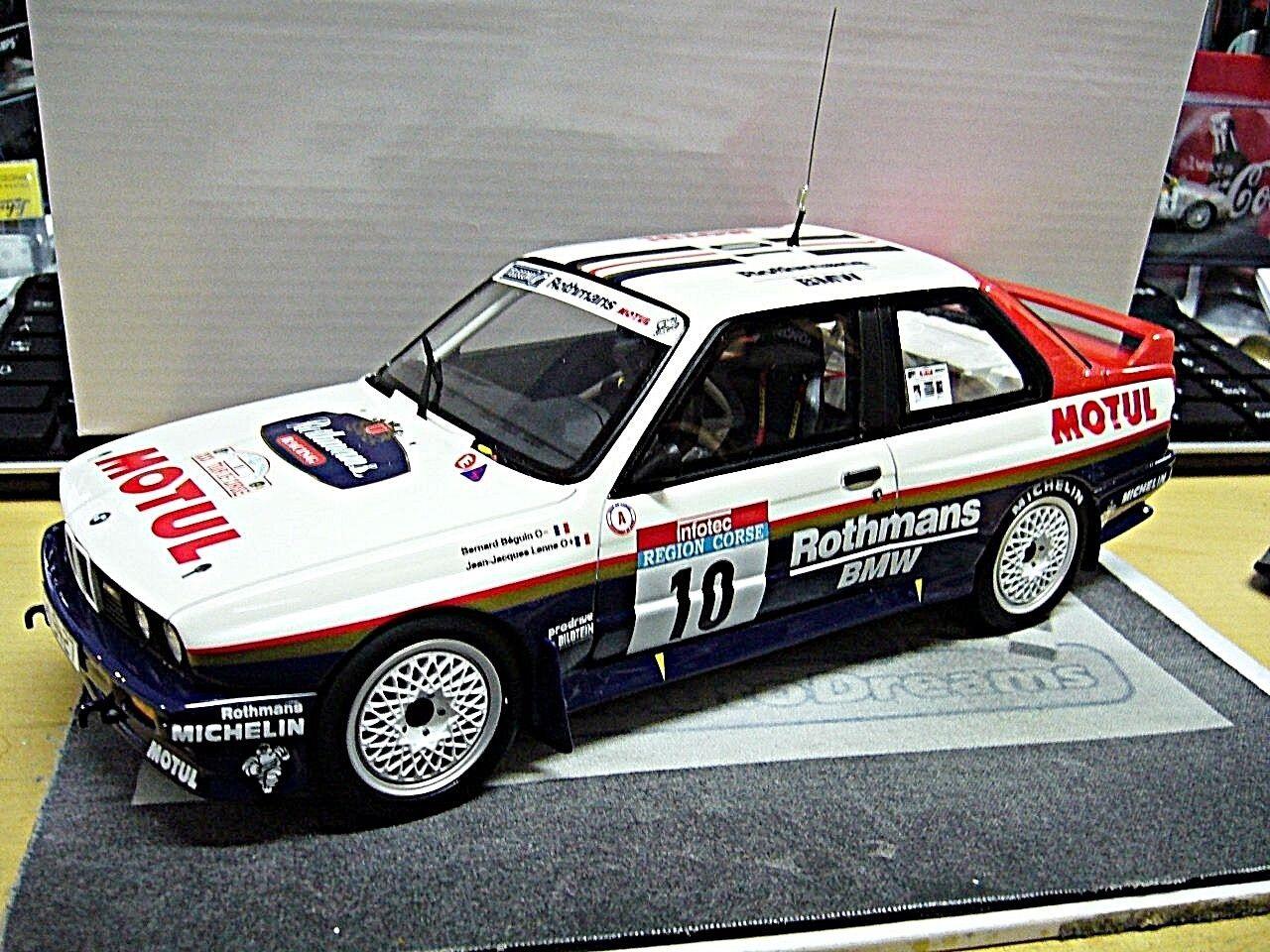 BMW m3 e30 MIS. a RALLY TOUR DE CORSE WINNER Béguin 1987 Otto Model RAR 1:18