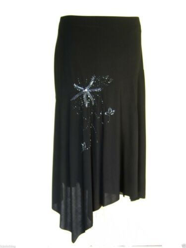 16 to 26 Brand new Black skirt gorgeous quality bead embroidery detail *LICK*