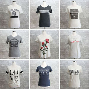 47601979 Image is loading New-Abercrombie-amp-Fitch-Womens-Graphic-Tee-T-