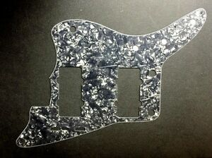 NEW-Jazzmaster-Pickguard-BLACK-Pearl-4-Ply-for-USA-Fender-Guitar