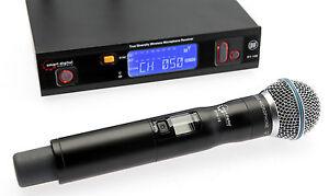 UHF-wireless-microphone-rack-mount-True-diversity-receiver-Australian-certified