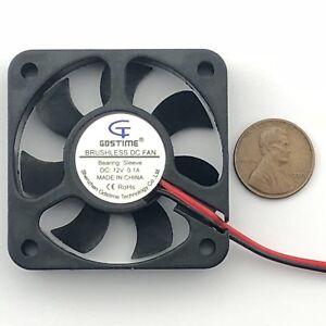 12V-50mm-Cooling-Fan-50x50x10mm-DC-PC-Computer-Case-3D-Printer-5010-2-Pin