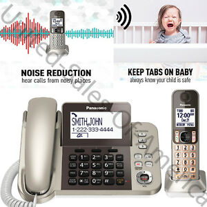 Details about Cordless Phone Answering Machine Landline Telephones Calls  Block Noise Reduction