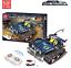 Bausteine-Fernbedienung-Blau-Gelaendewagen-Verfolgen-Spielzeug-Geschenk-Modell Indexbild 2