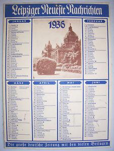 Kalender-Leipziger-Neueste-Nachrichten-1936-Pappschild-D5