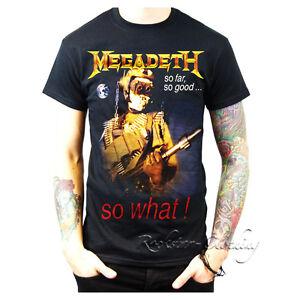 Megadeth So Far, So Good… So What! Mens Tee Black Tour T-Shirt Top S-XXL   eBay