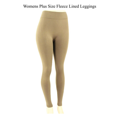 Women/'s Leggings Plus Size Fleece Lined Warm Winter Thermal One Size XL,XXL,XXXL