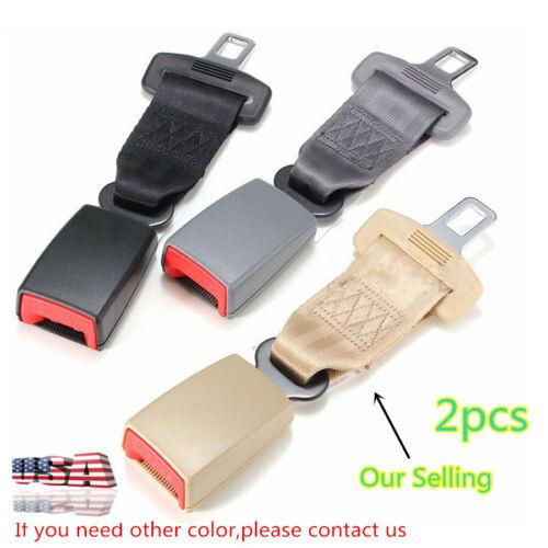 """2PC 9/'/' Beige Adjustable Car Seat Seatbelt Safety Belt Extender 7//8/"""" Buckle US"""