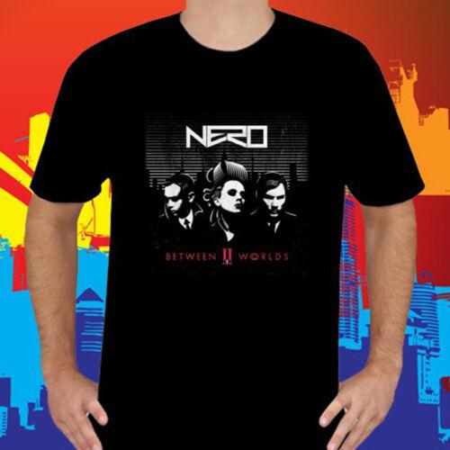 New NERO Between II Worlds Men/'s Black T-Shirt Size S to 3XL
