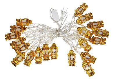 Eid Deluxe Indoor LED Light String Golden Lanterns Ramadan