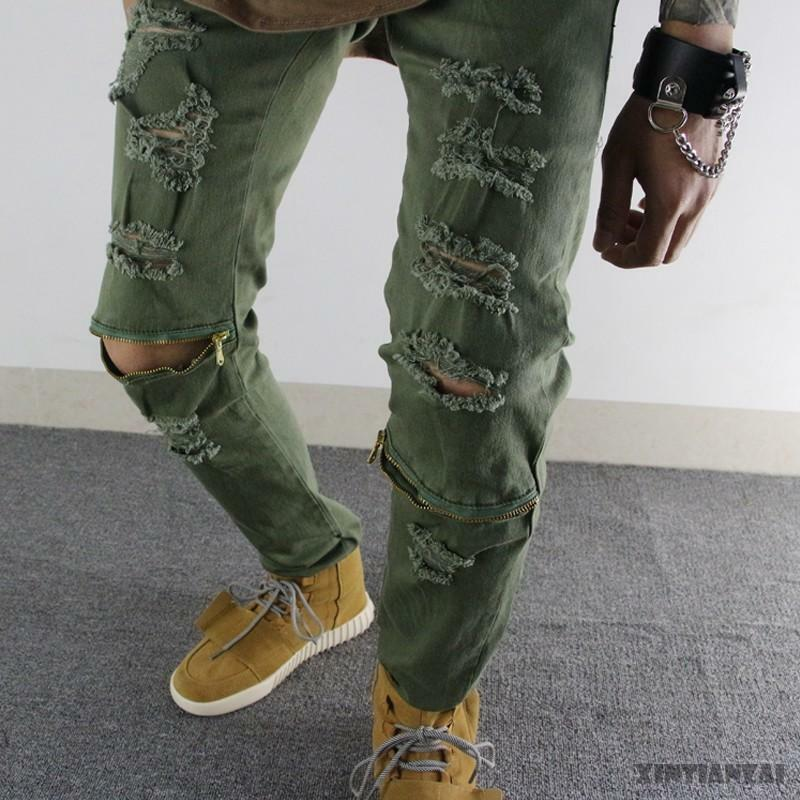 Herren Zipper Denim Hosen Vogue Slim Fit Punk Hip Hop Hop Hop Street Zerrissene Hose neu | Moderater Preis  | Nutzen Sie Materialien voll aus  | Bestellungen Sind Willkommen  e319fd
