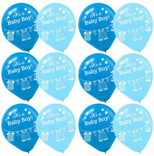 Shower with Love Boy Baby Shower Latex Balloons Party Decoration Supplies ~15ct