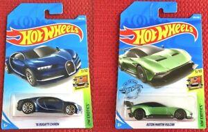 HOT-WHEELS-Bugatti-Chiron-Aston-Martin-Vulcan-Set-di-2-AUTO-MATTEL-Nuovo-di-Zecca