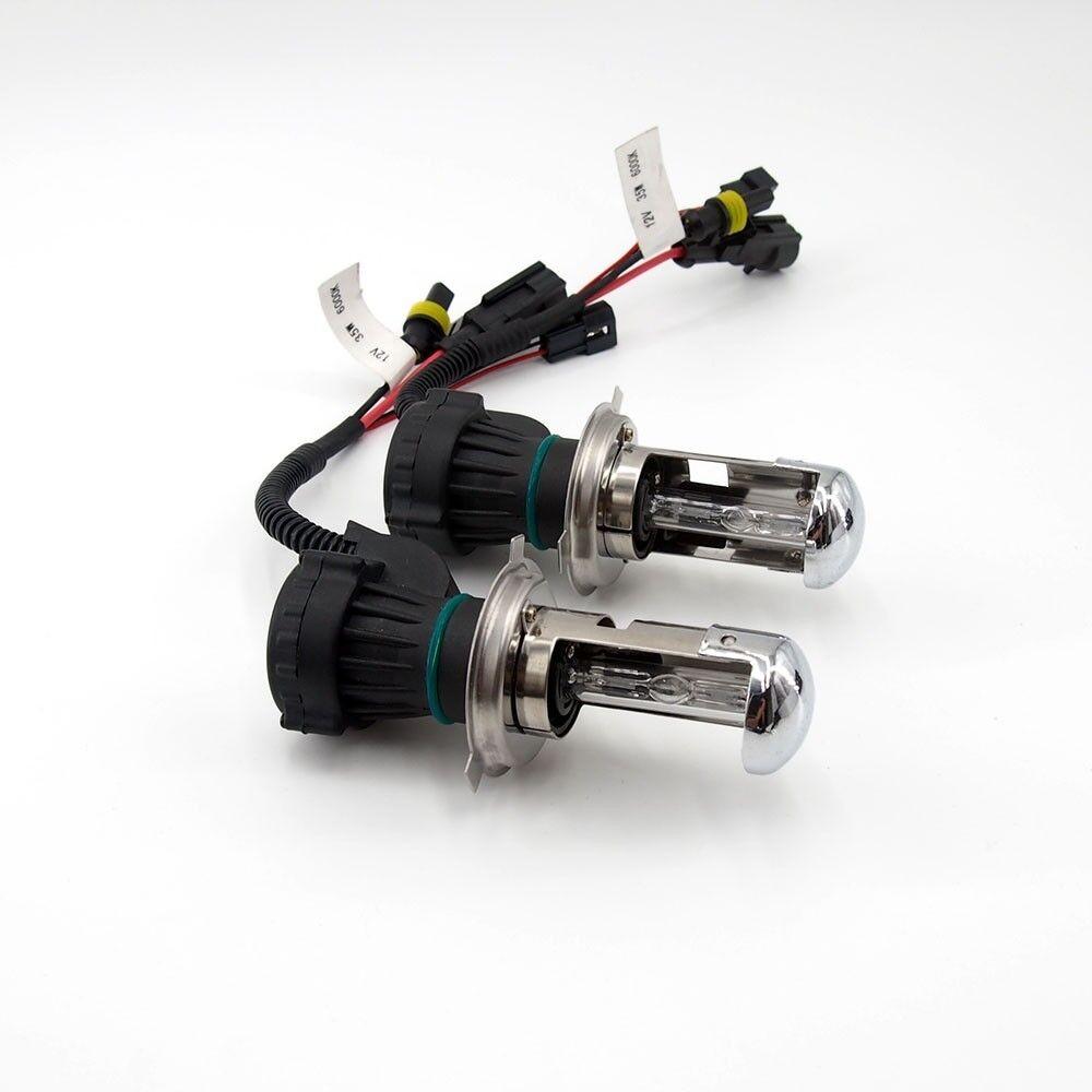 One Pair of HID Xenon Bi xenon Hi Low Dual Beam Bulbs H4