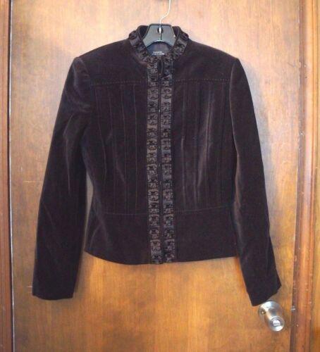 Taglia Arthur 4 S velluto di Levine Tahari nero da di Blazer donna qvFpP0