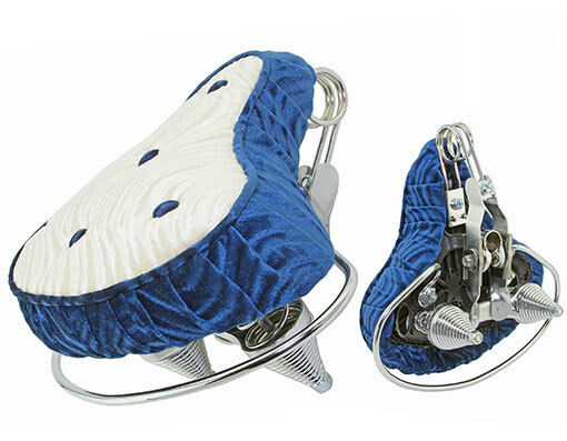 Comfortable  Beach Cruisers Bicycle Seats Velour bluee White-218933  for your style of play at the cheapest prices