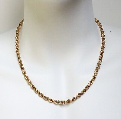 """18K gold plated Stainless Steel Necklace Rope Chain 2mm-6mm 18"""",20"""",24"""",30"""""""