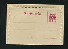Österreich Kartenbrief K63  unbenutzt  (AuK)