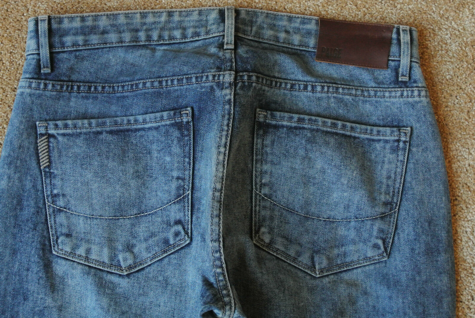 PAIGE PREMIUM DENIM PPD Jeans 31X34 NWOT DOHENY Straight- Distressed-SPIKE