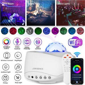 WiFi-LED-Galaxy-Light-Projector-Starry-Star-Sky-Night-Smart-Lamp-Speaker-Control