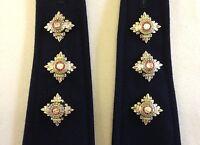 Captain Rank, Officer Rank Stars, Pips, Capt, 3 Pairs, Army, Military