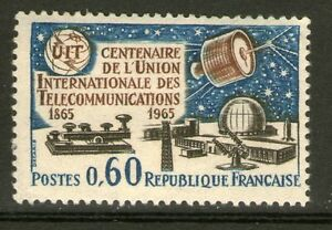 TIMBRE-1451-NEUF-XX-100-ANS-DE-L-039-UNION-INTERNATIONALE-DES-TELECOMMUNICATIONS