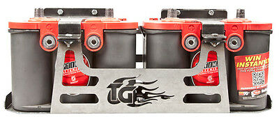 Trail-Gear Dual Optima Battery Box, Side by Side configuration, CNC Cut & Bent