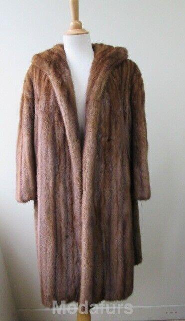 Women's Sz XL Female MINT Real Mink Fur Coat CLEARANCE SALE