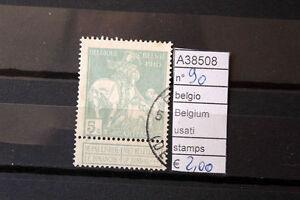STAMPS-FRANCOBOLLI-BELGIO-BELGIUM-USATI-N-90-A38508