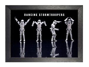 Stormtroopers Dansant Star Wars Film Roman Affiche Noir Blanc