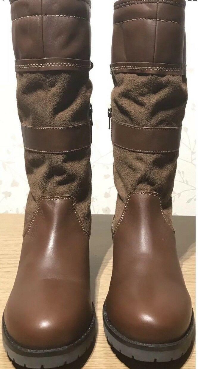 Size 6 New Wrangler Womens Ladies Winter tan Genuine Real Premium Leather boot P