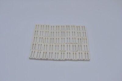 50 x LEGO® 2412 Systemstein Gitterfliese in 1x2 weiß Neuware